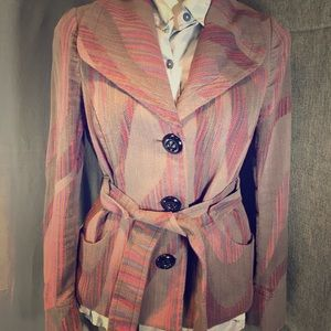 Jackets & Blazers - Vintage Nepalese Hand Made Belted Wrap Jacket